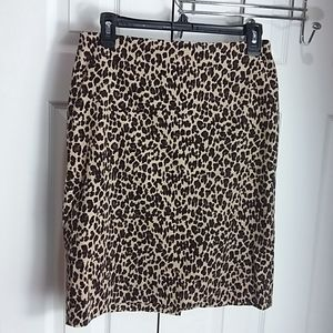 Talbots Animal Print Pencil Skirt